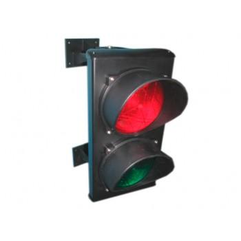 Светофор светодиодный, 2-секционный, красный-зелёный, 230 В.