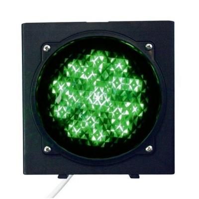 Светофор светодиодный, 1-секционный, зелёный, 230 В.